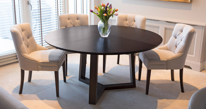 Round Dining Table Circular Dining Table Black Dining Table Bespoke Dining Table Modern Dining Table Oak Dining Table